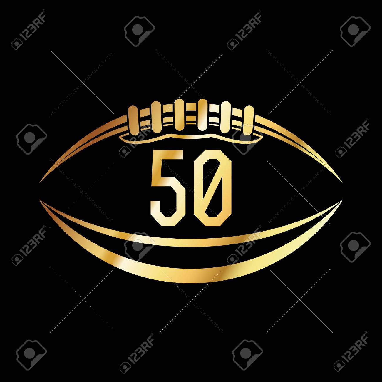 An american football emblem with the number 50. - 51394600