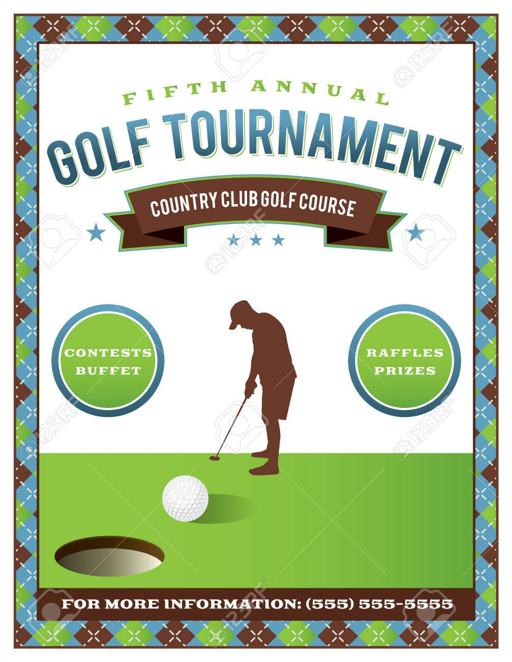 A template for a golf tournament scramble invitation flyer. Vector EPS 10 available. - 56861248