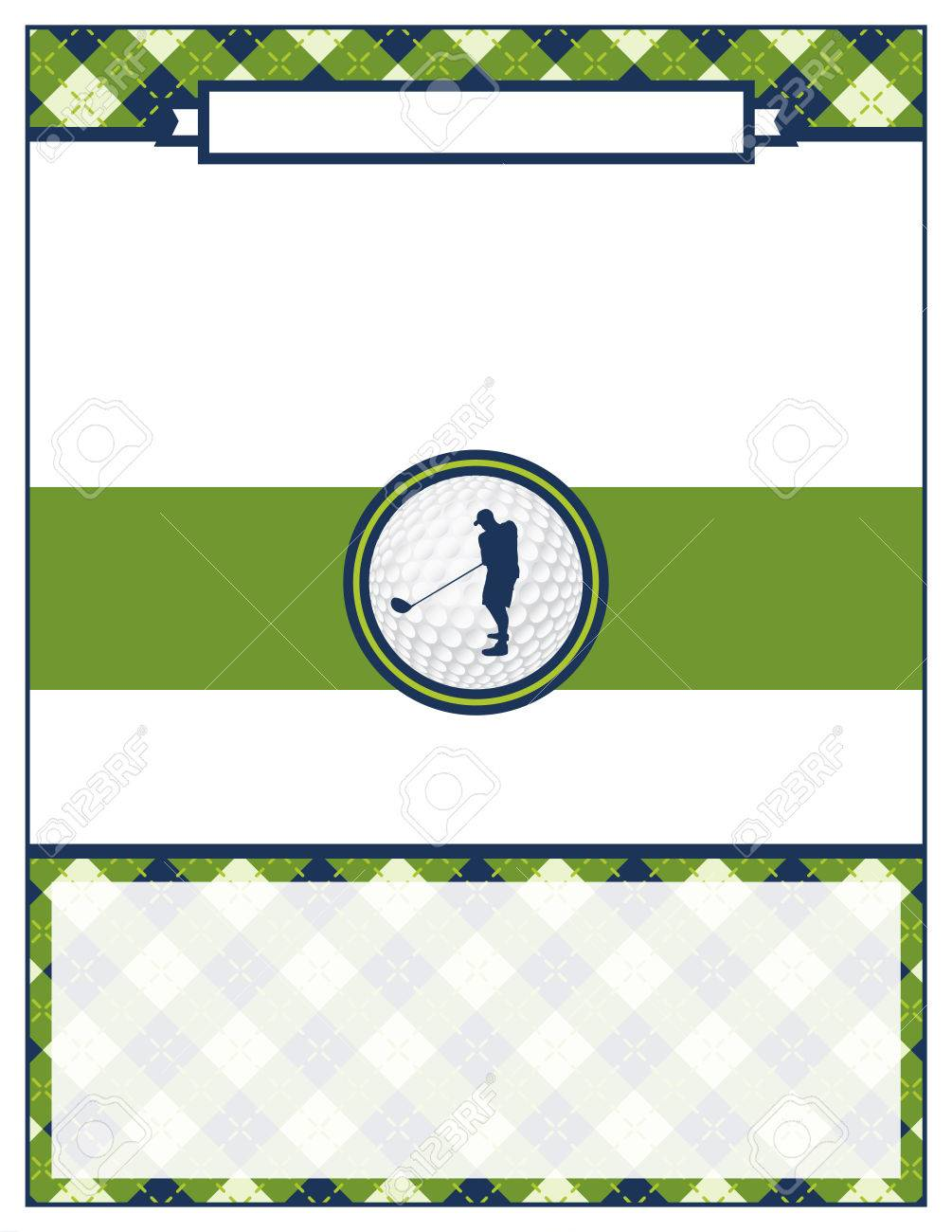 A template for a golf tournament scramble invitation flyer. Vector EPS 10 available. - 56861254