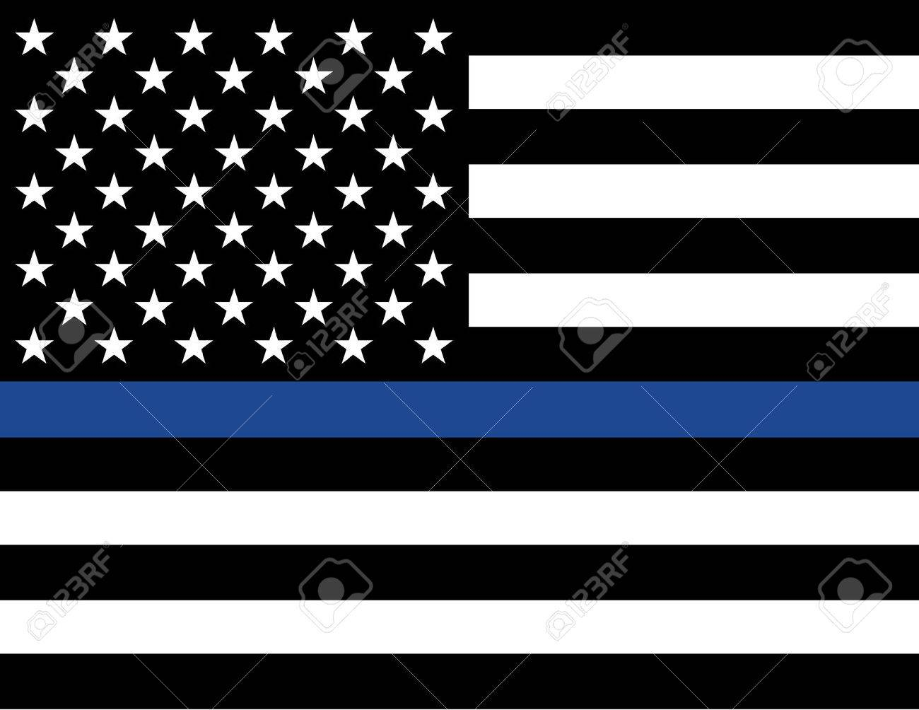 An American flag law enforcement support flag. - 60428503