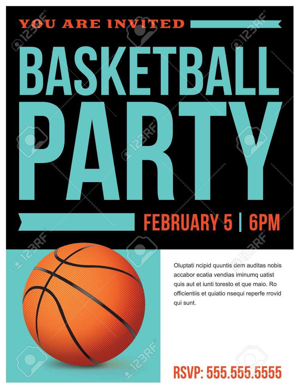 A flyer for a basketball party invitation template vector eps a flyer for a basketball party invitation template vector eps 10 available stock vector stopboris Images
