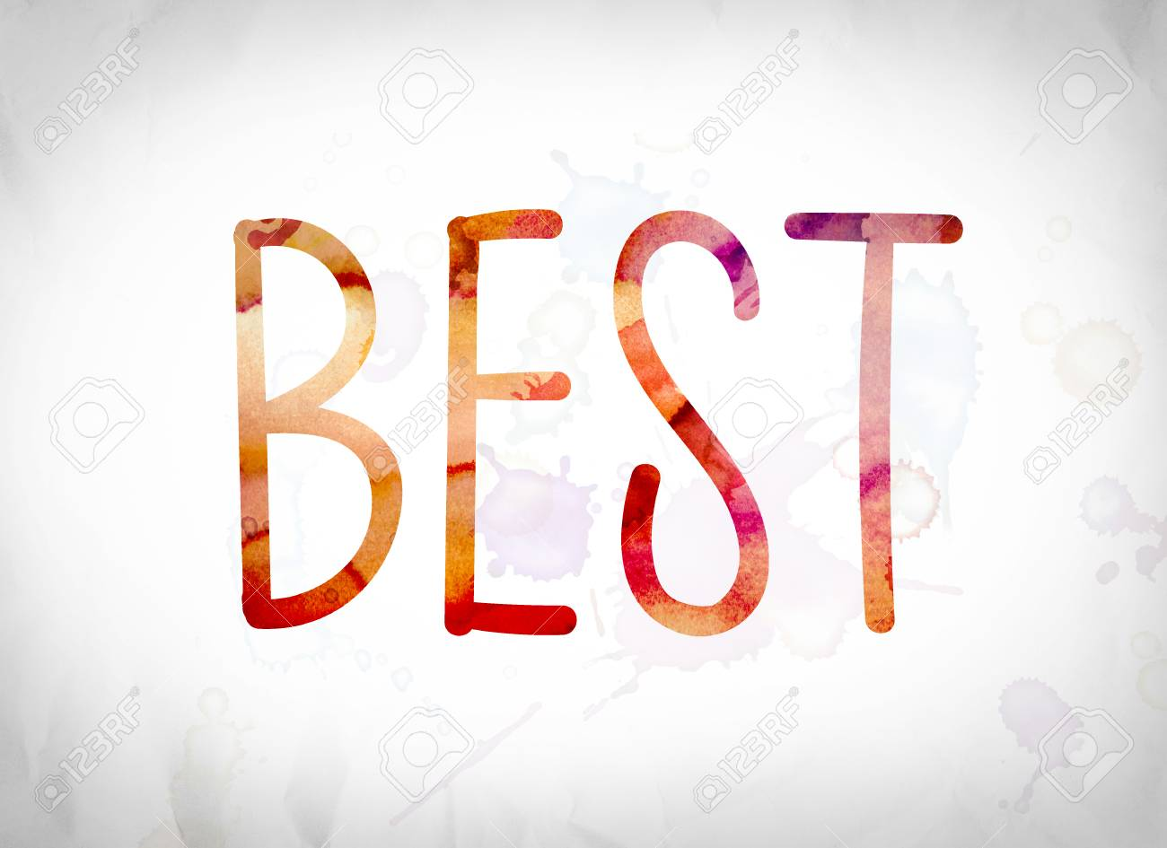 the word best written in watercolor washes over a white paper