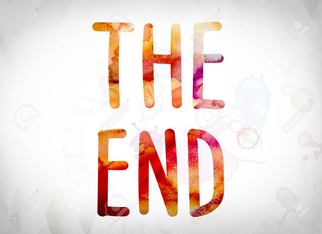 """The Word """"The End"""" Written In ..."""