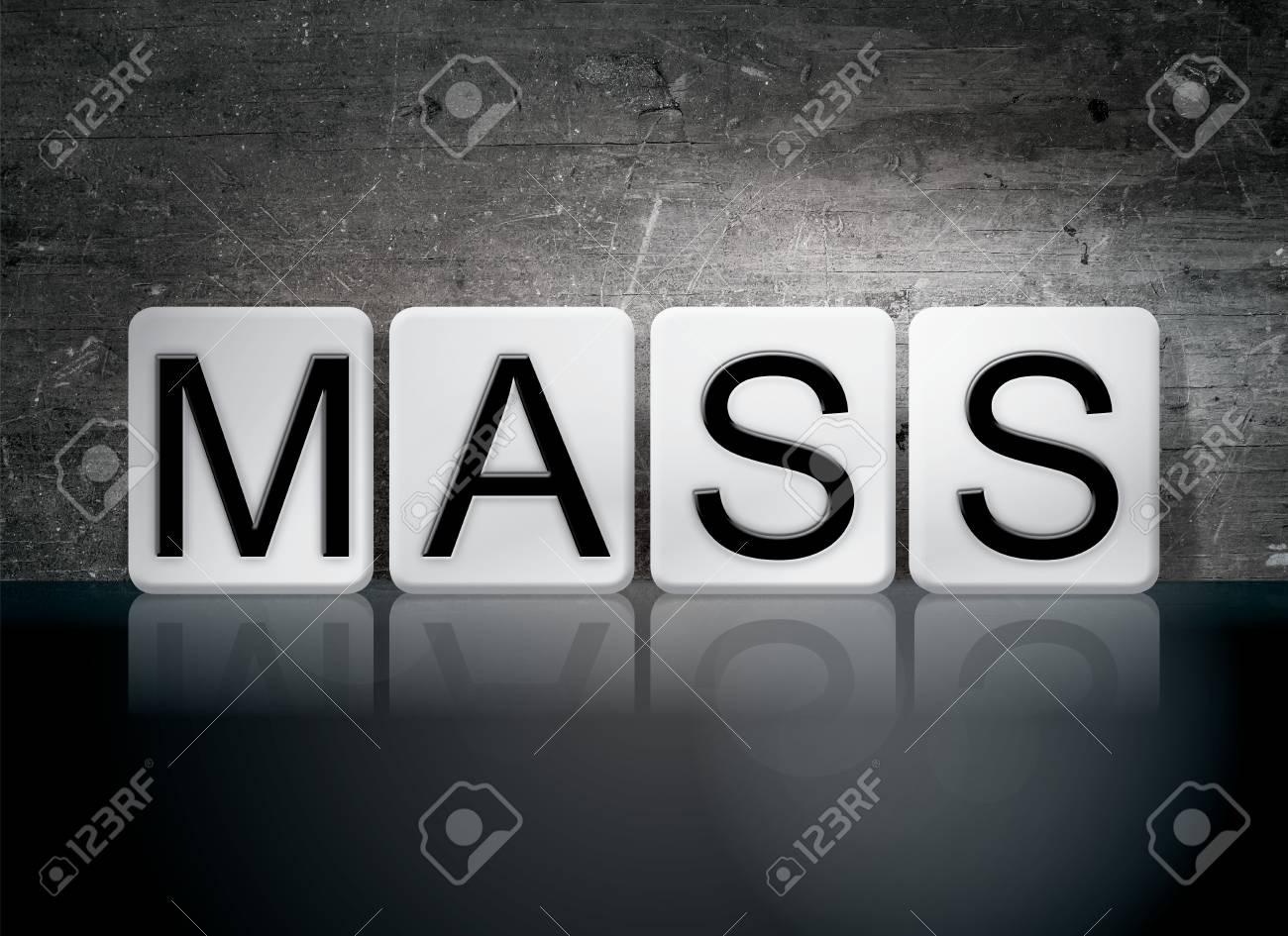 Das Wort Masse Geschrieben In Weiße Fliesen Gegen Einen Dunklen - Fliesen maße standard