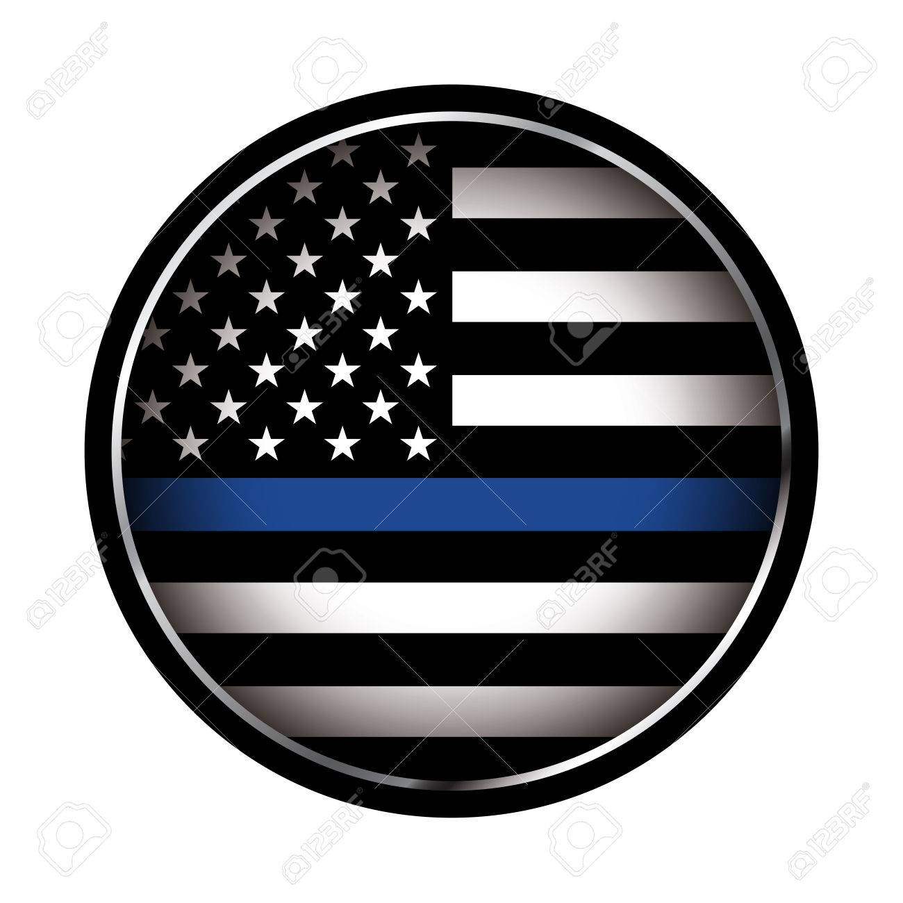 An American flag icon law enforcement support flag. Vector EPS 10 available. - 70203512
