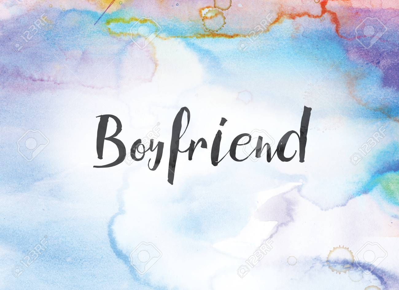 The Word Boyfriend Concept And Theme Written In Black Ink On Stock