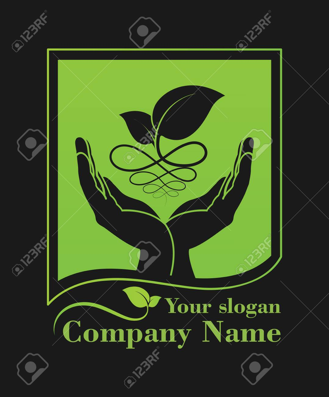 leaf in hand icon  ecological symbols and signs green nature