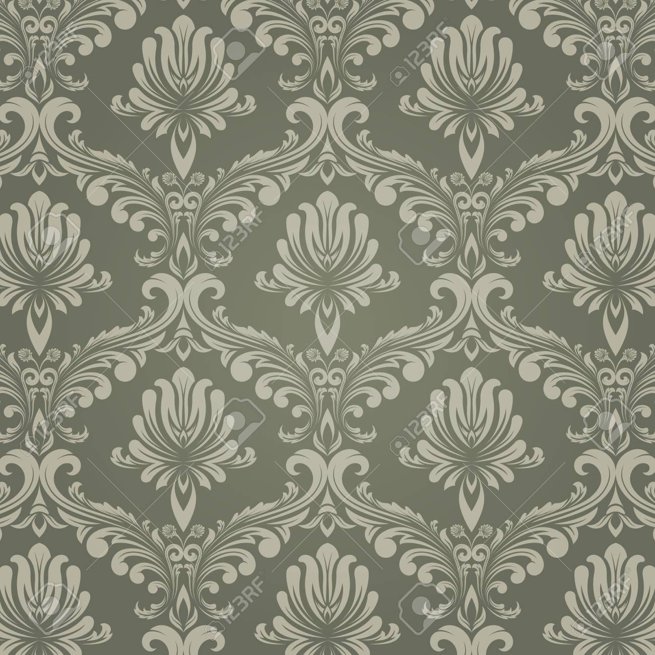 Retro Wallpaper And Vintage Seamless Pattern For Background