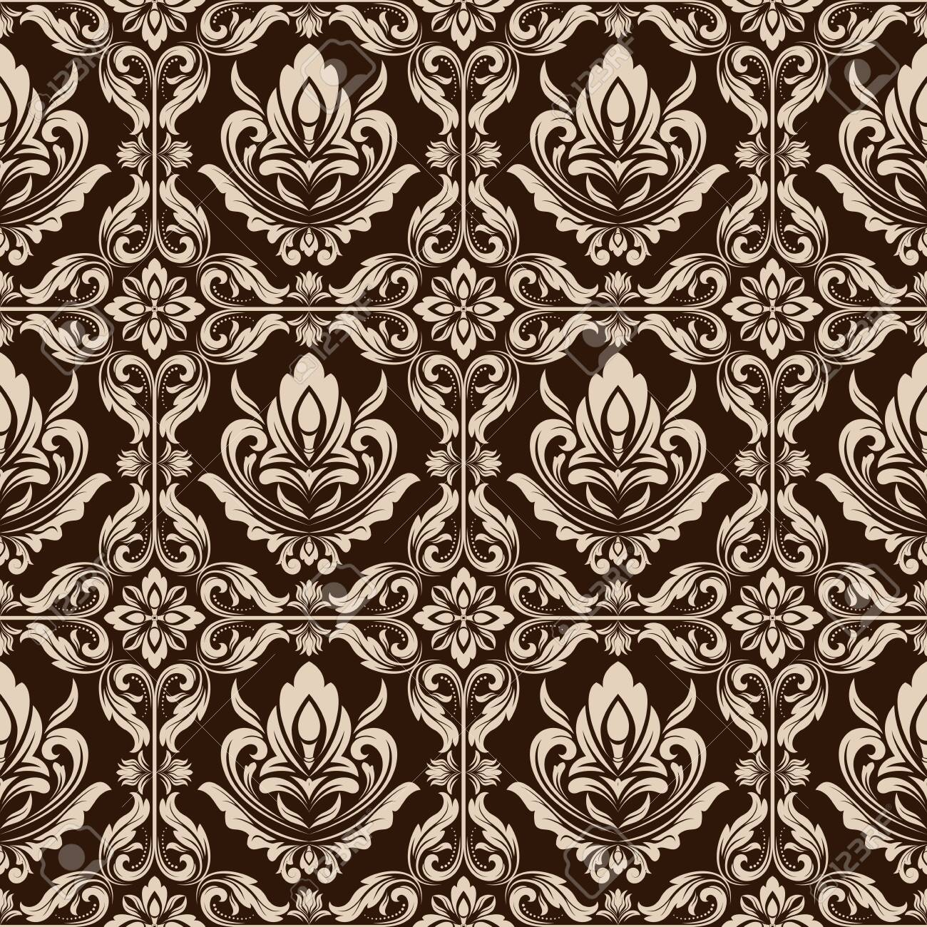 Retro Wallpaper Or Ancient Background With Beautiful Filigree