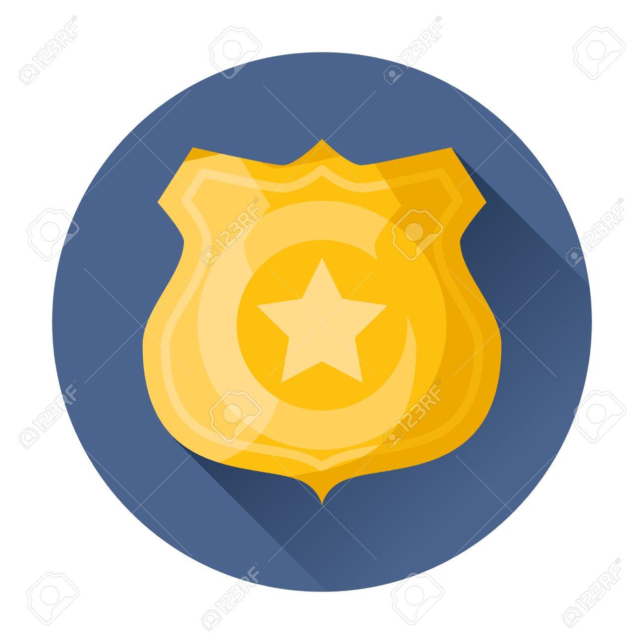 police badge icon vector illustration royalty free cliparts vectors