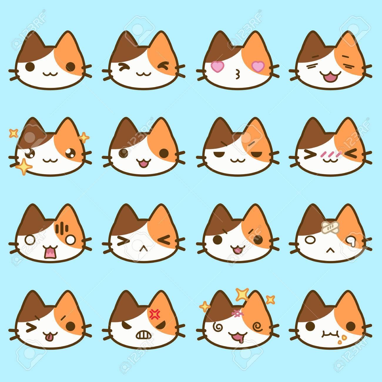 文字 猫 顔