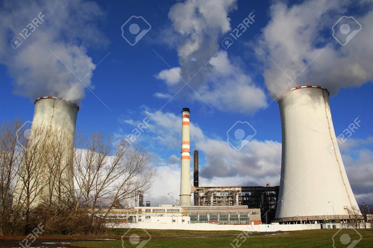 Power plant Zaluzi, Litvinov - Czech Republic, oil and gas rafinery