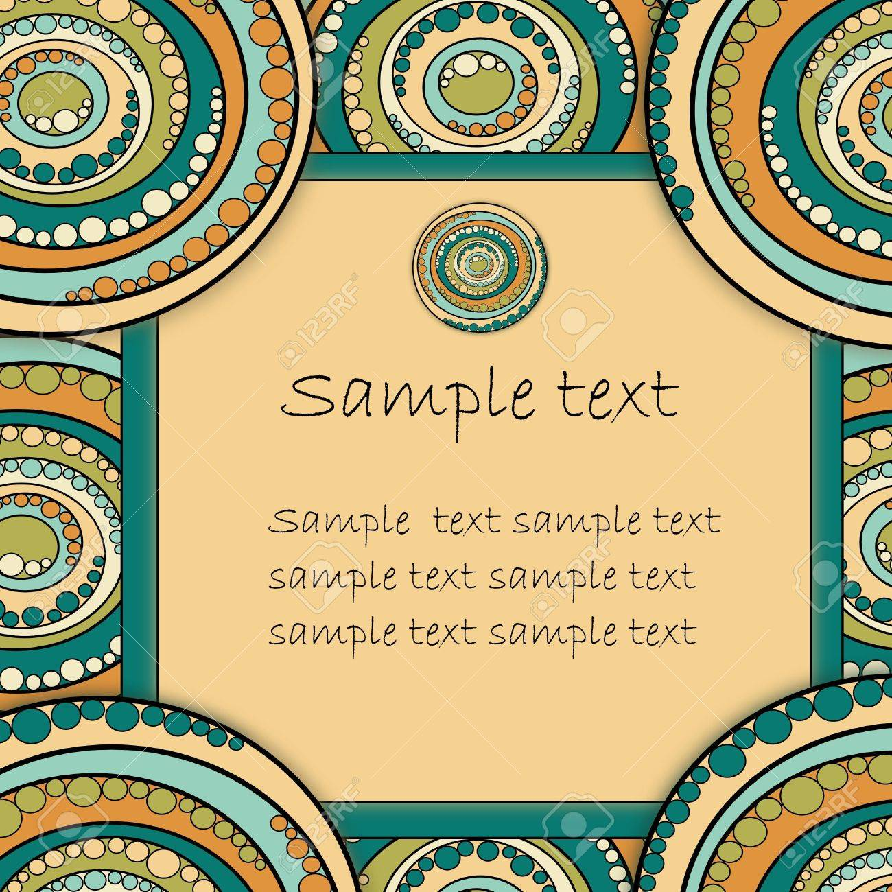 Beautiful abstract circles frame with text box   illustration Stock Vector - 17454388