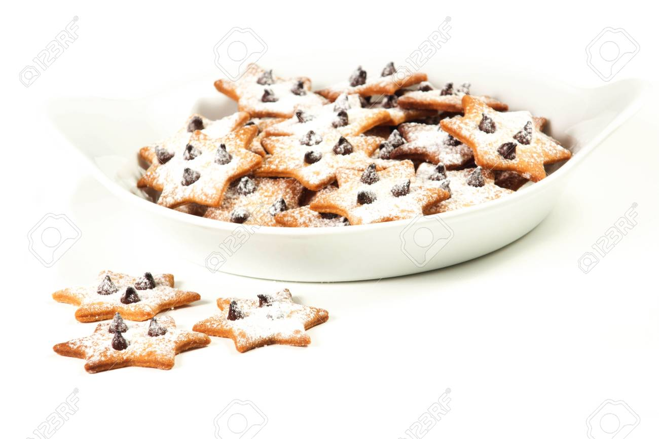 christmas star cookies  on a white background Stock Photo - 17720426
