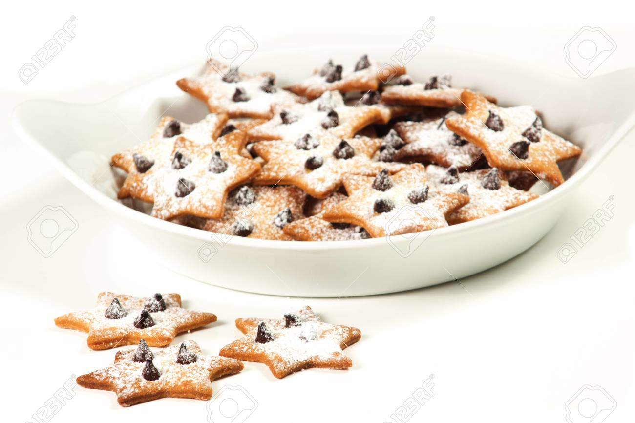christmas star cookies  on a white background Stock Photo - 17720427