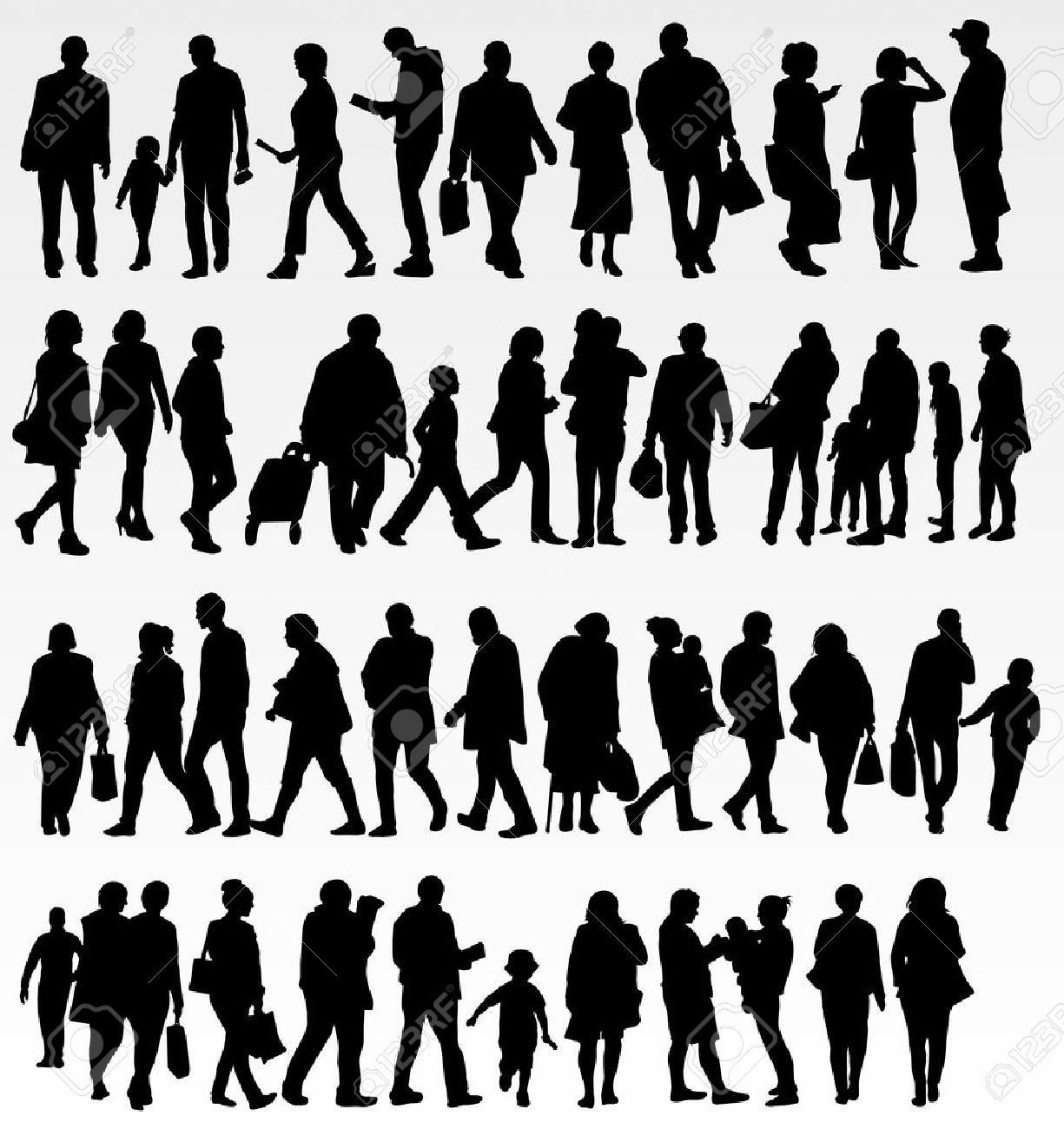 人物シルエット コレクションのイラスト素材ベクタ Image 35640817