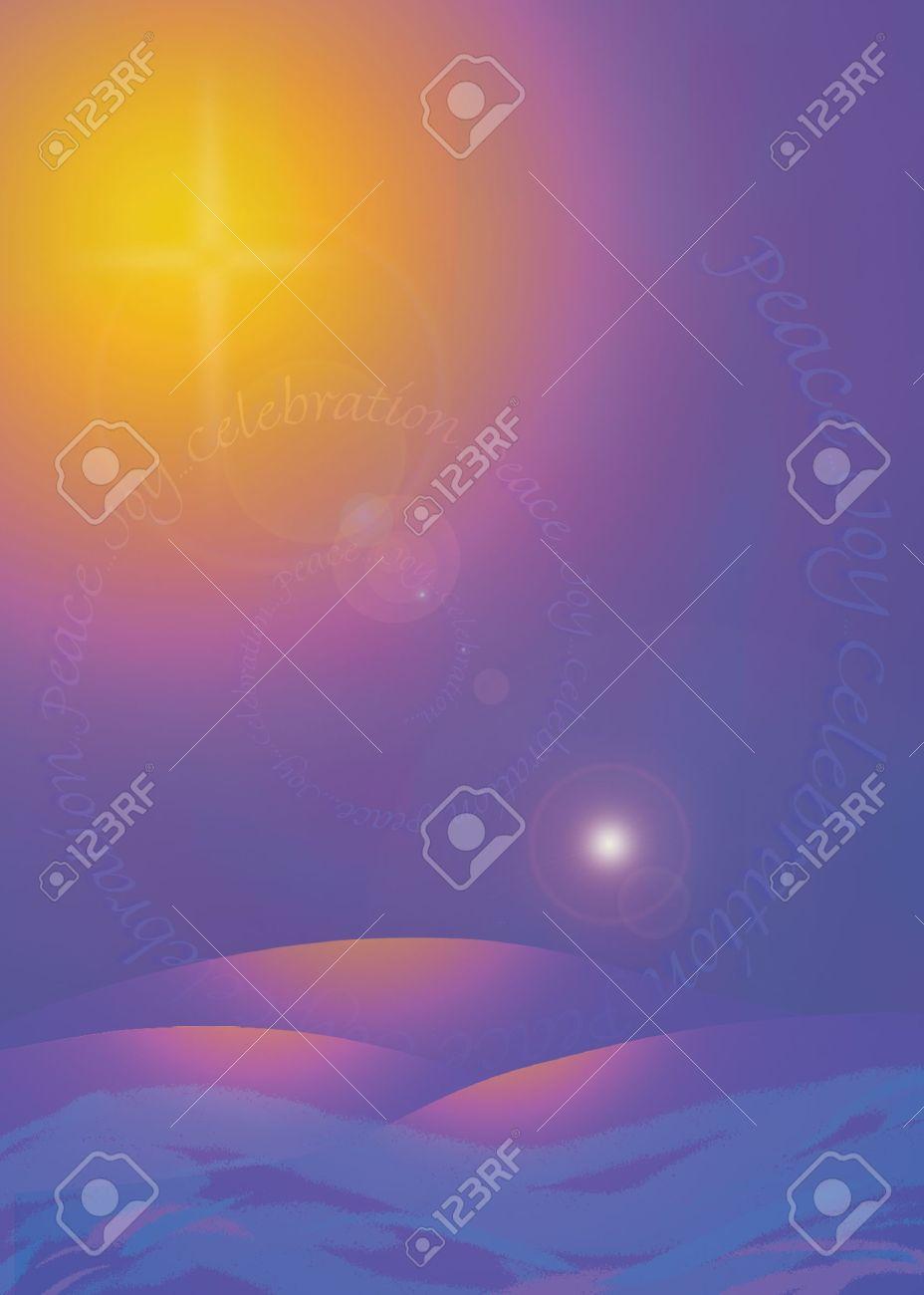 Stella Luminosa Di Natale.Nascita Di Gesu Stella Luminosa Simbolo Di Una Carta Natale