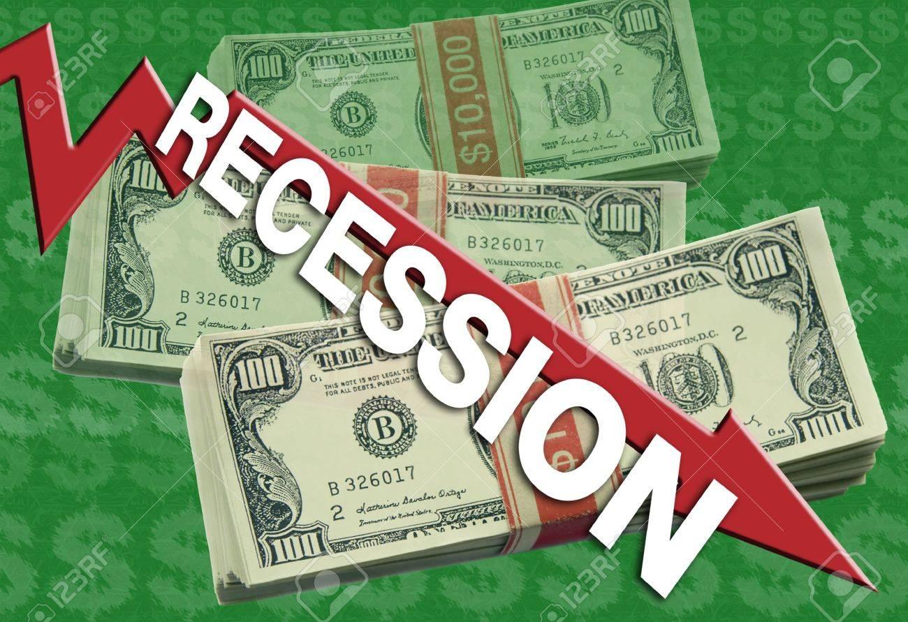 A economic downturn graphic represents a recession. Stock Photo - 3971071