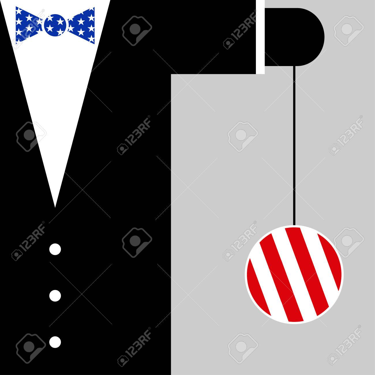 Black suit with the symbols of usa flag blue bow tie with white black suit with the symbols of usa flag blue bow tie with white stars and yoyo buycottarizona Images