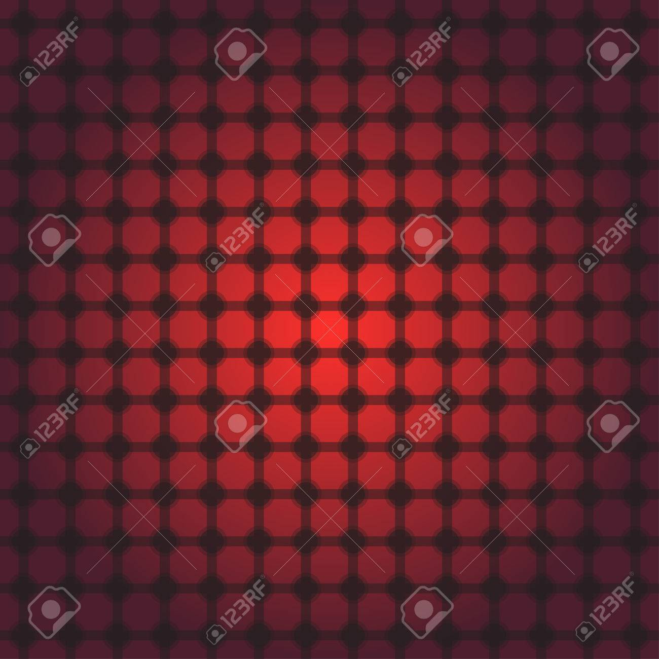 red and black transparent square and circle grid with transparent