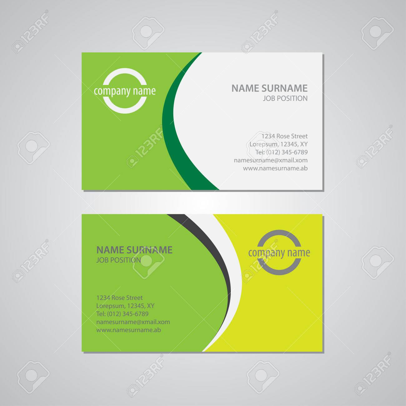 Set of two business cards canada and usa standard 35 x 2 set of two business cards canada and usa standard 35 x 2 reheart Choice Image