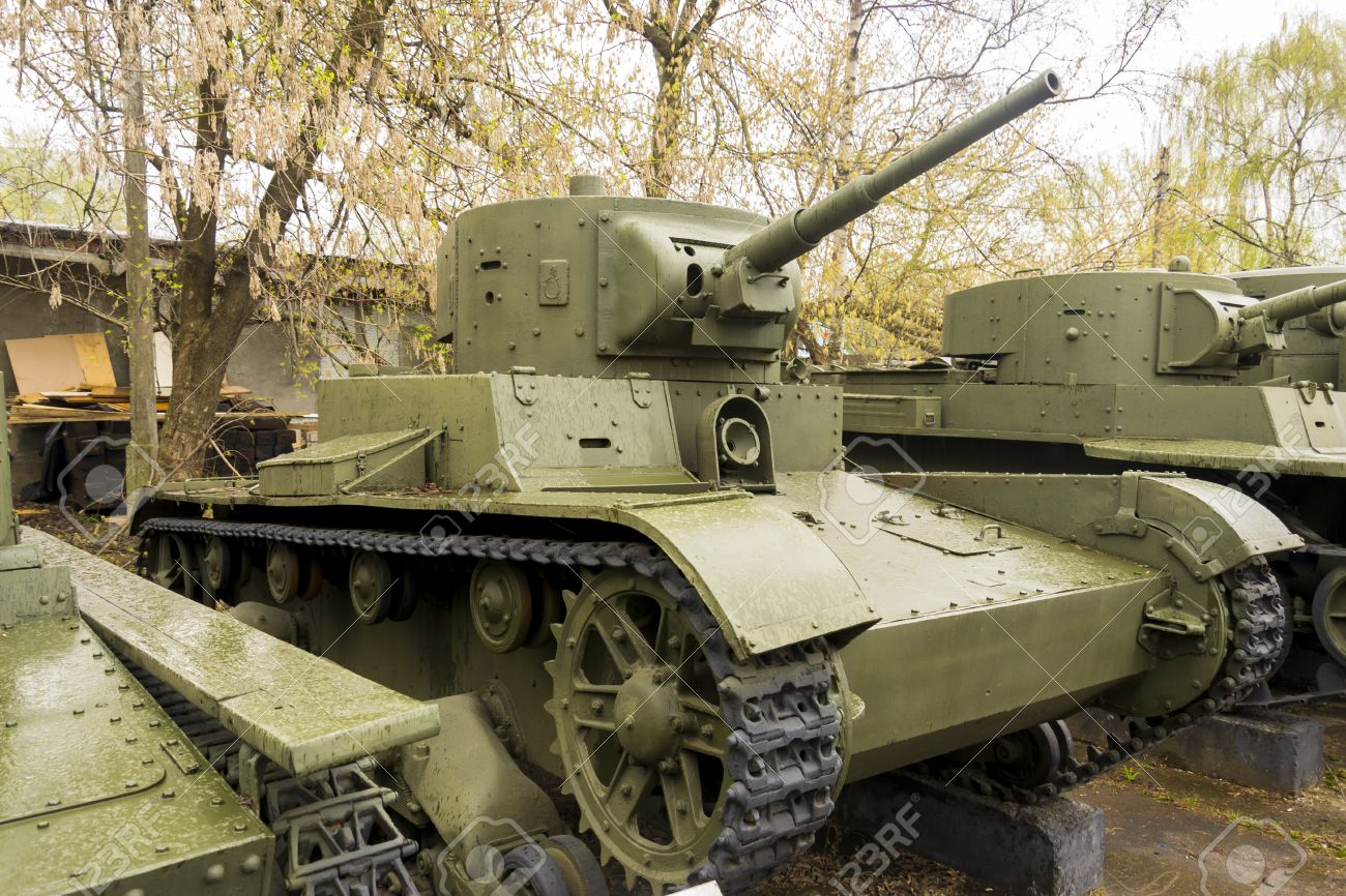 Russian Military Ww2 Tank In Green Color Stock Photo Picture And Royalty Free Image Image 25655283