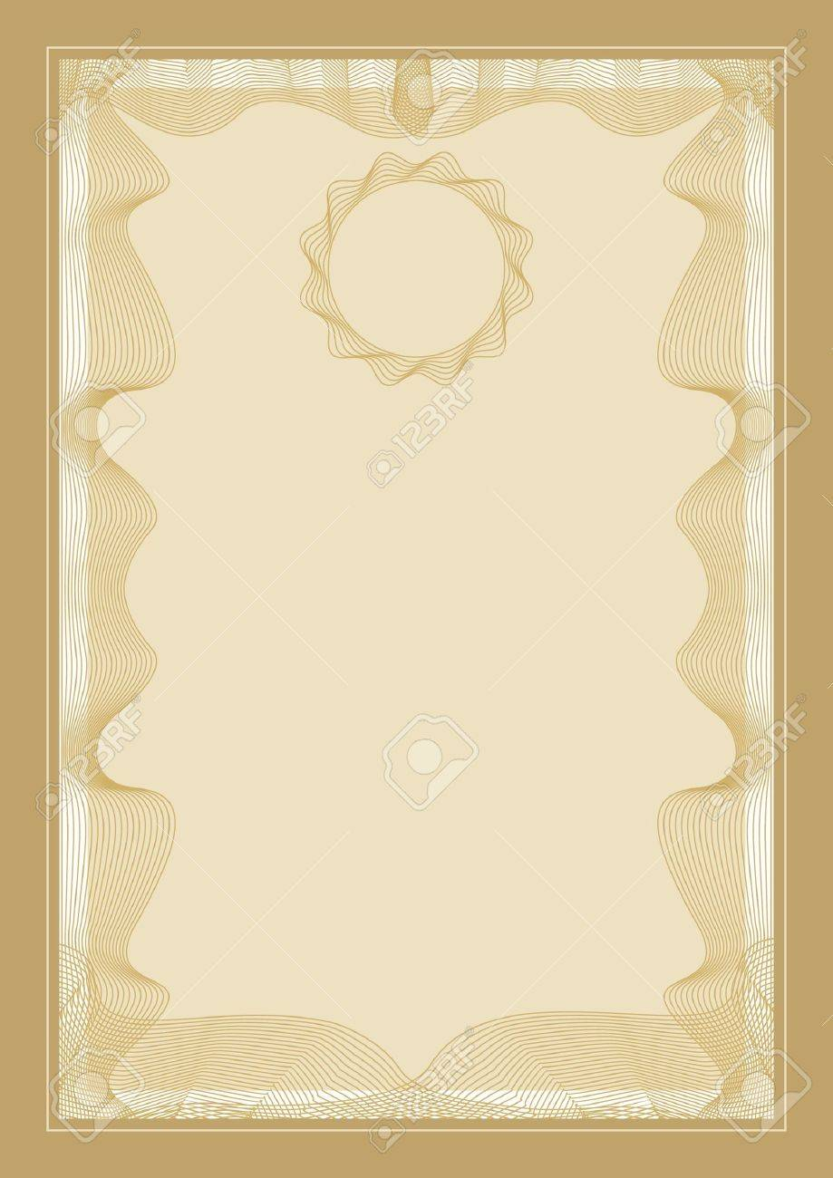 Guilloche vector frame for diploma or certificate Stock Vector - 7917022