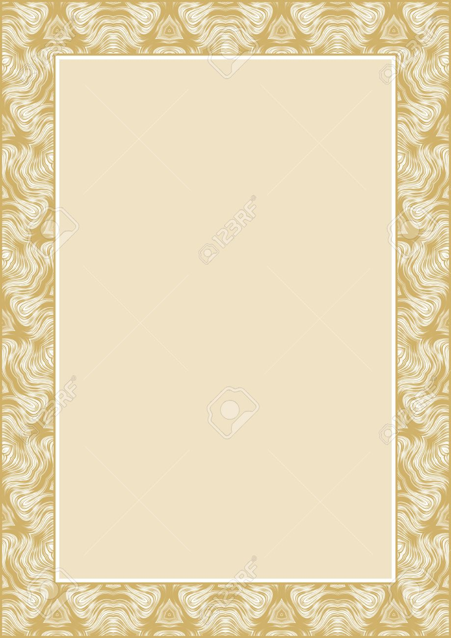 Frame for diploma or certificate Stock Vector - 8278153