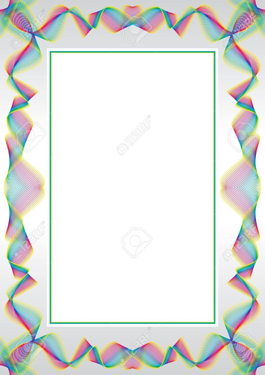 Guilloche   frame for diploma or certificate Stock Vector - 8668557