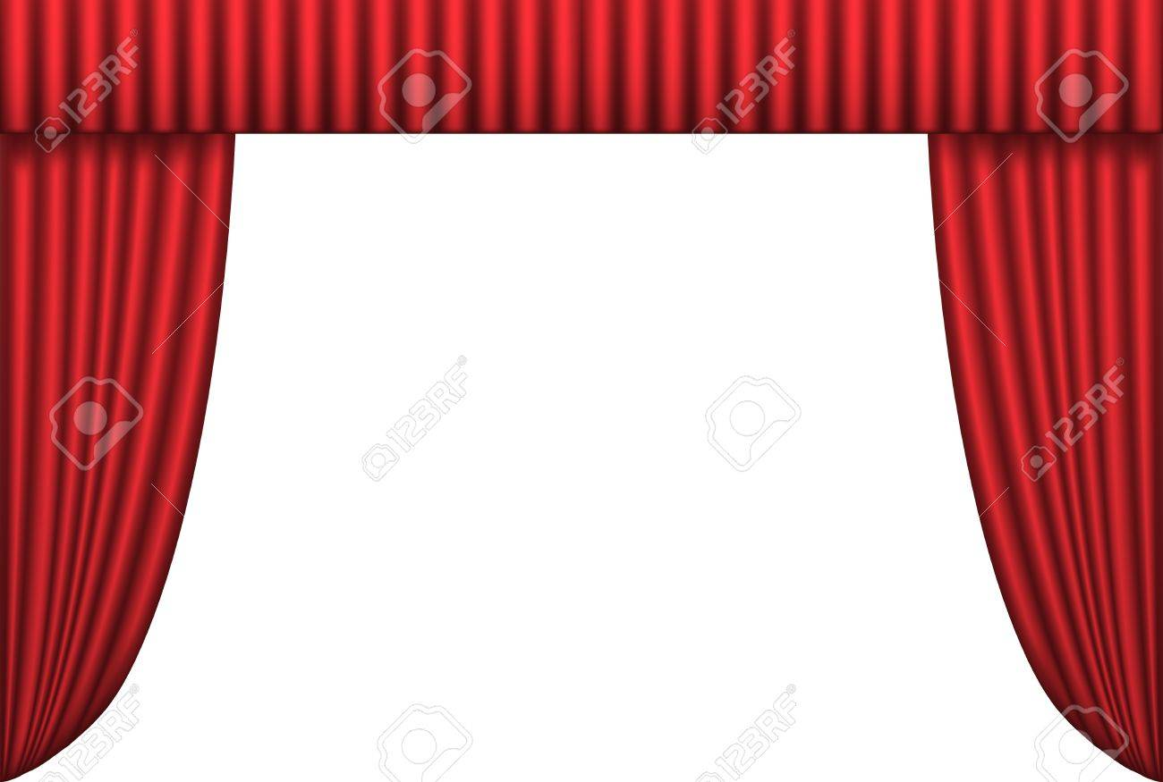Open red theater curtain, background, vector illustration Stock Vector - 8774051