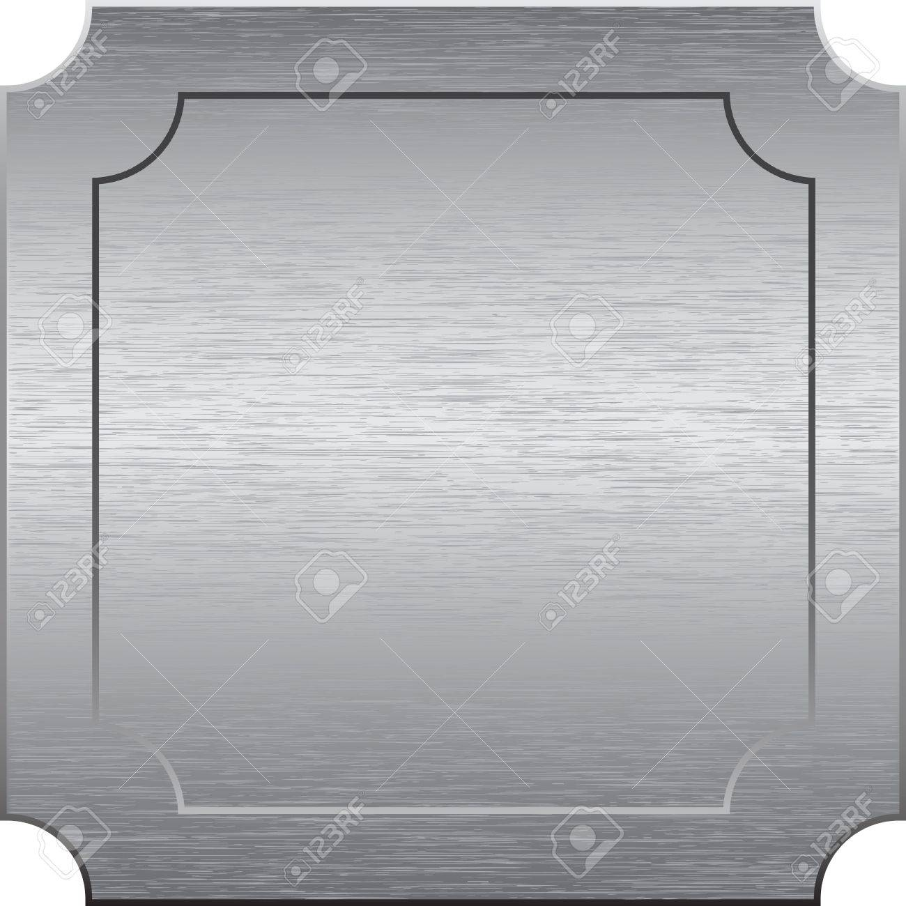 Square metal plate with cut corners. Vector illustration Stock Vector - 9291390