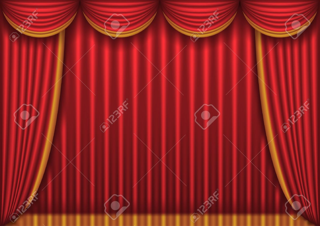 Closed theater curtains - Closed Red Theater Curtain Stock Vector 9313627