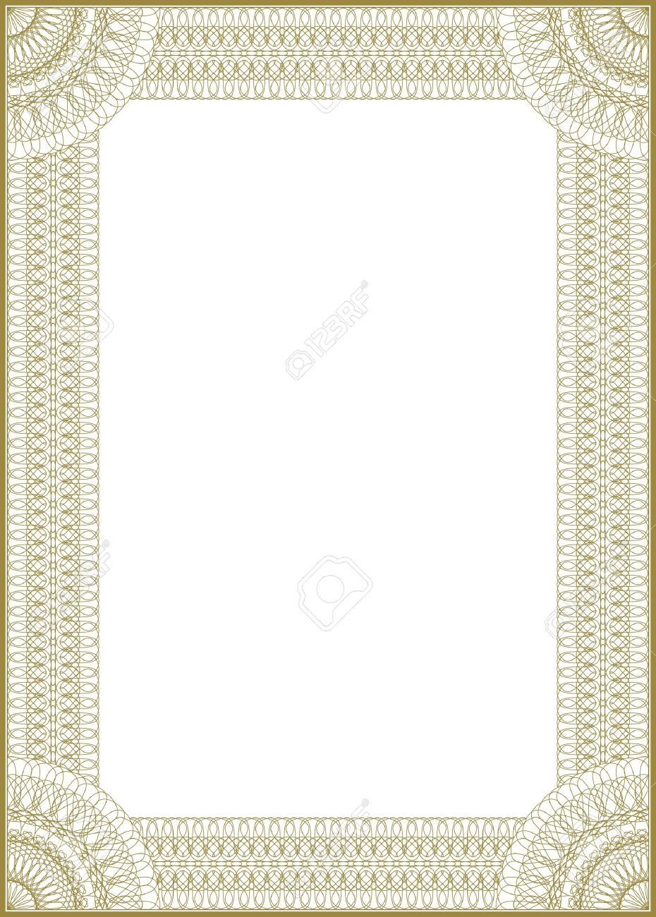 guilloche vector frame for diploma or certificate stock vector 9651684
