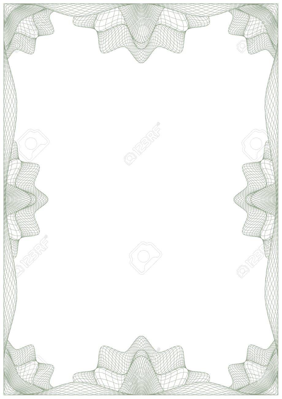 Guilloche frame for diploma or certificate Stock Vector - 10985027