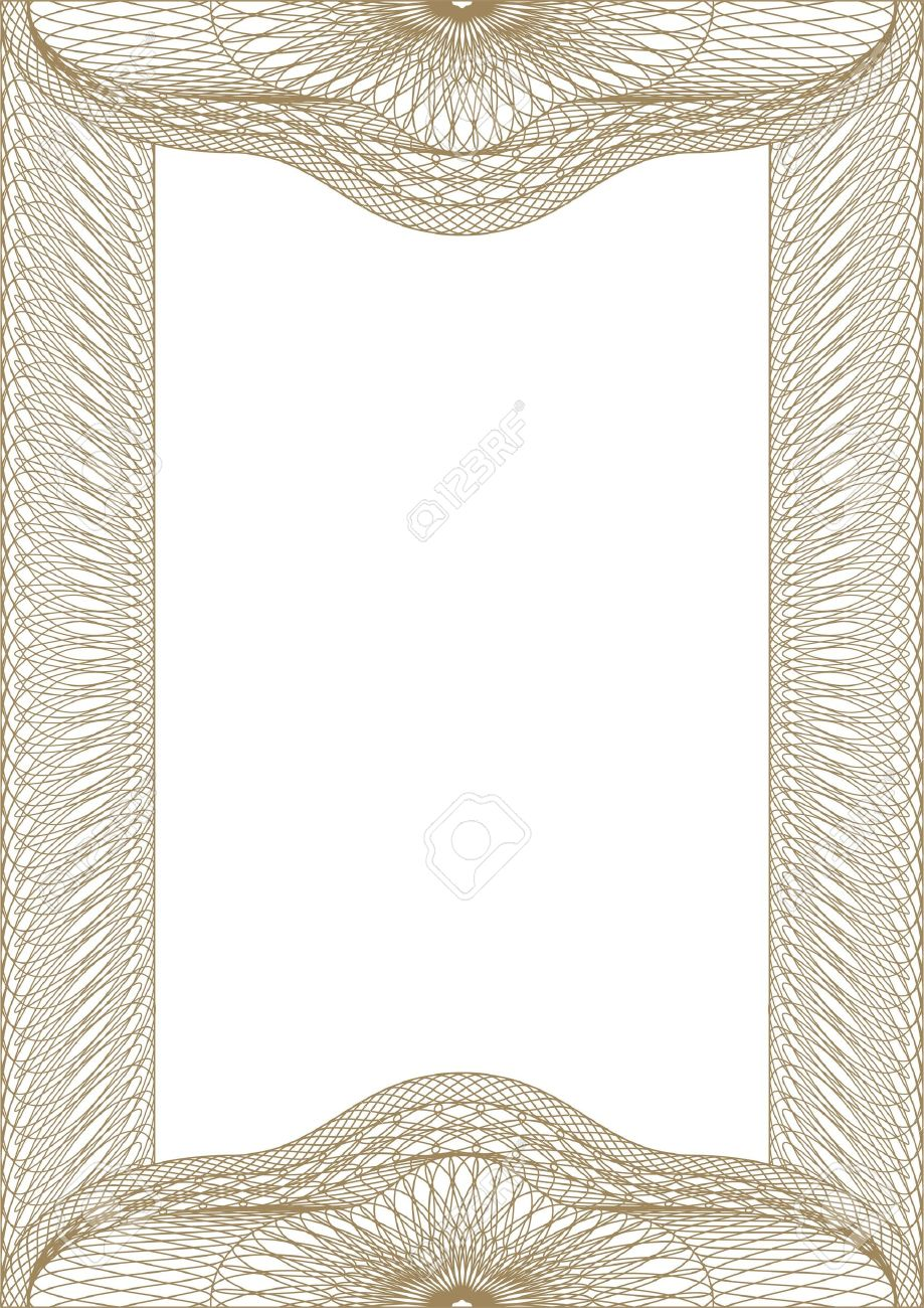 Guilloche vector frame for diploma or certificate Stock Vector - 11056484
