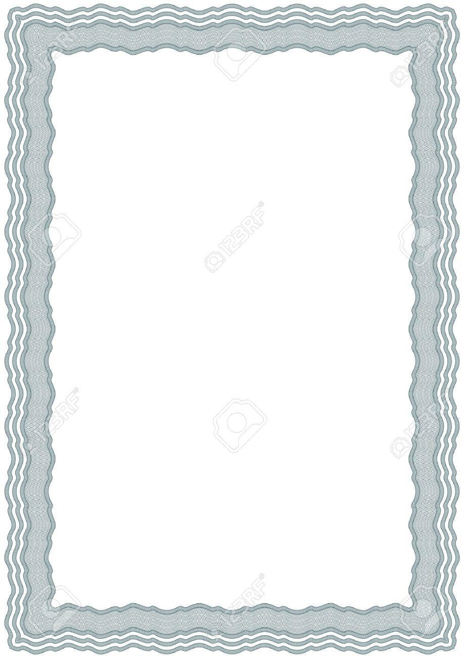 Guilloche vector green frame for diploma or certificate Stock Vector - 11351279