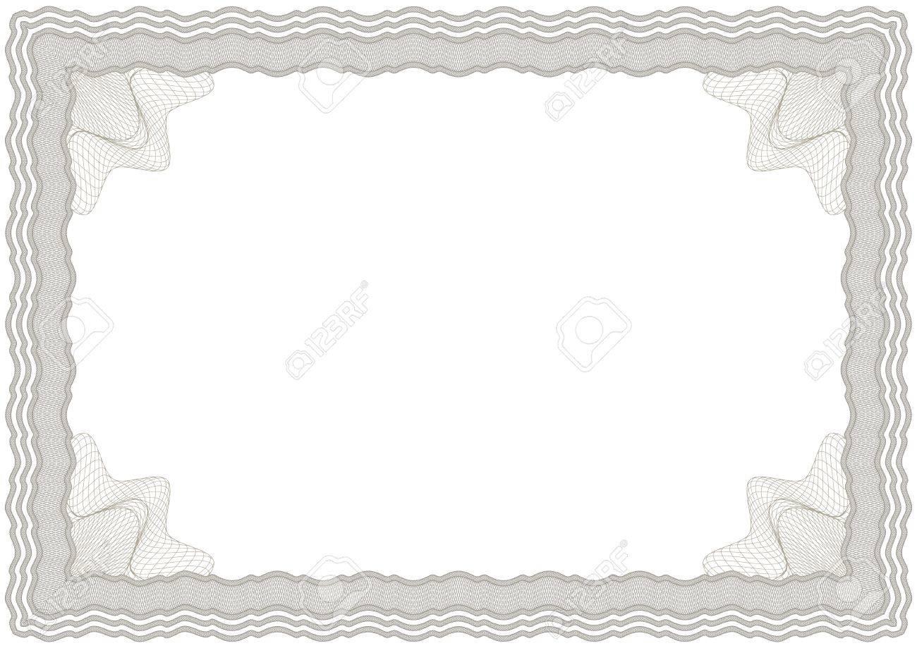 Entrecruzadas Vector Horizontal Marrón Marco De Diploma O ...