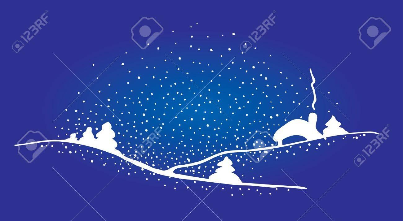 ベクトルのクリスマスの家と雪の...