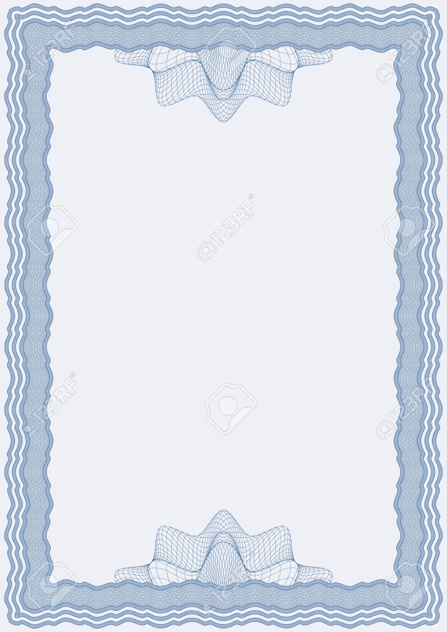 blue certificate