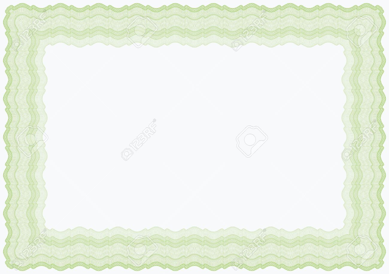 Guilloche horizontal green vector brown frame for diploma or certificate Stock Vector - 11585133
