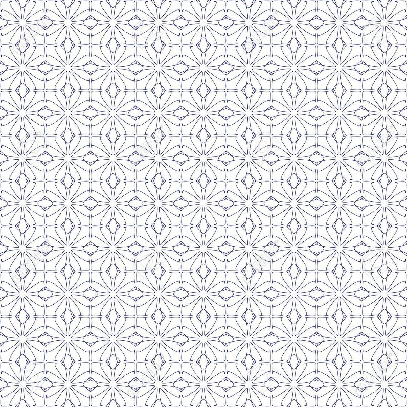 Vector seamless illustration of blue tangier grid, abstract guilloche background Stock Vector - 11663095