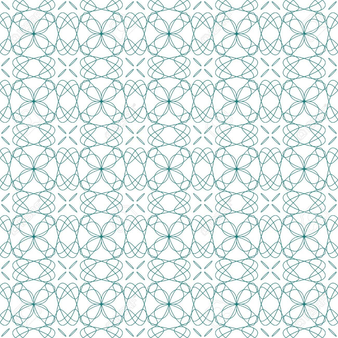 Vector seamless illustration of tangier grid, abstract guilloche ornament Stock Vector - 12075095