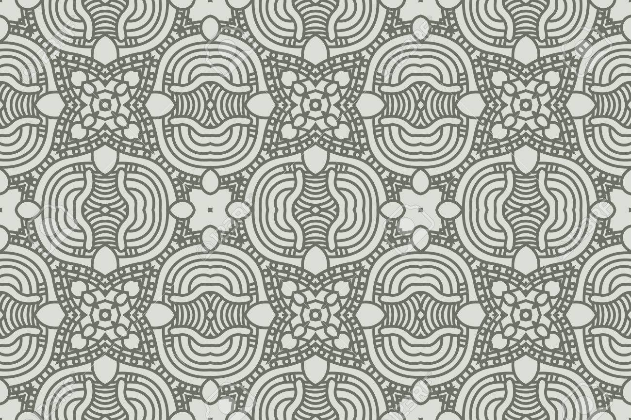 Seamless wallpaper with aztec ornament in gray colors Stock Vector - 13160235