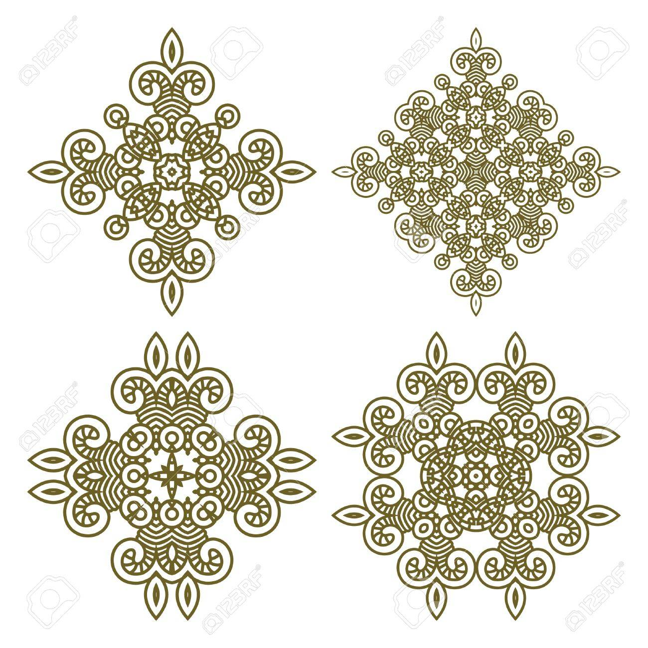 Seamless wallpaper with aztec ornament in gold colors, design element Stock Vector - 13160236