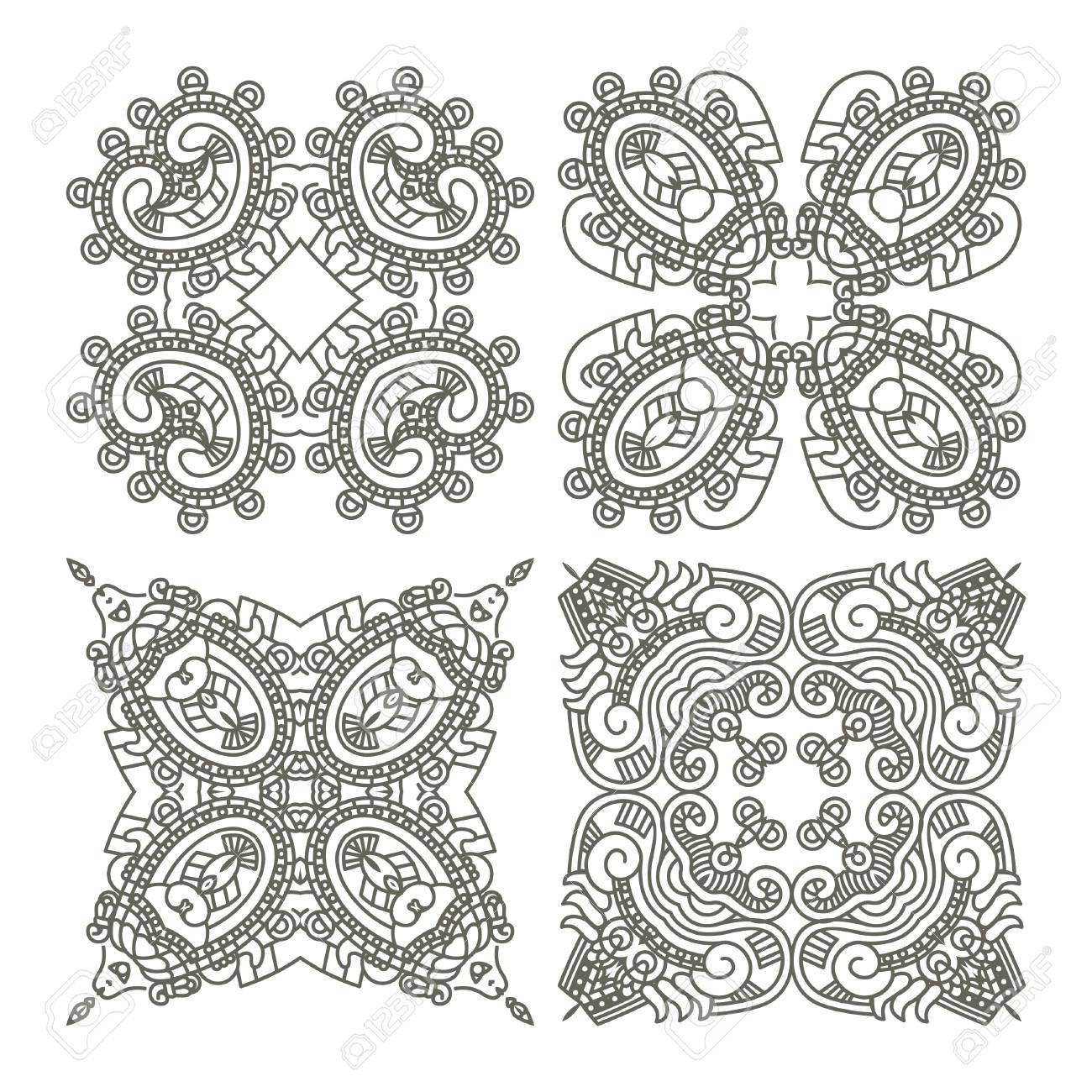 Wallpaper with aztec ornament in gray colors, design element Stock Vector - 13204998