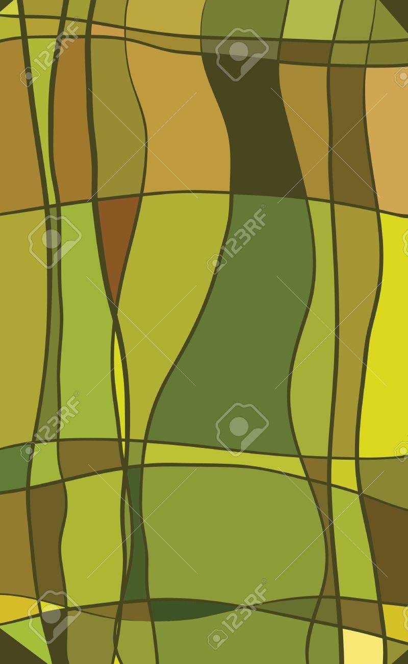 Multicolored stained glass with green color Stock Vector - 13492421
