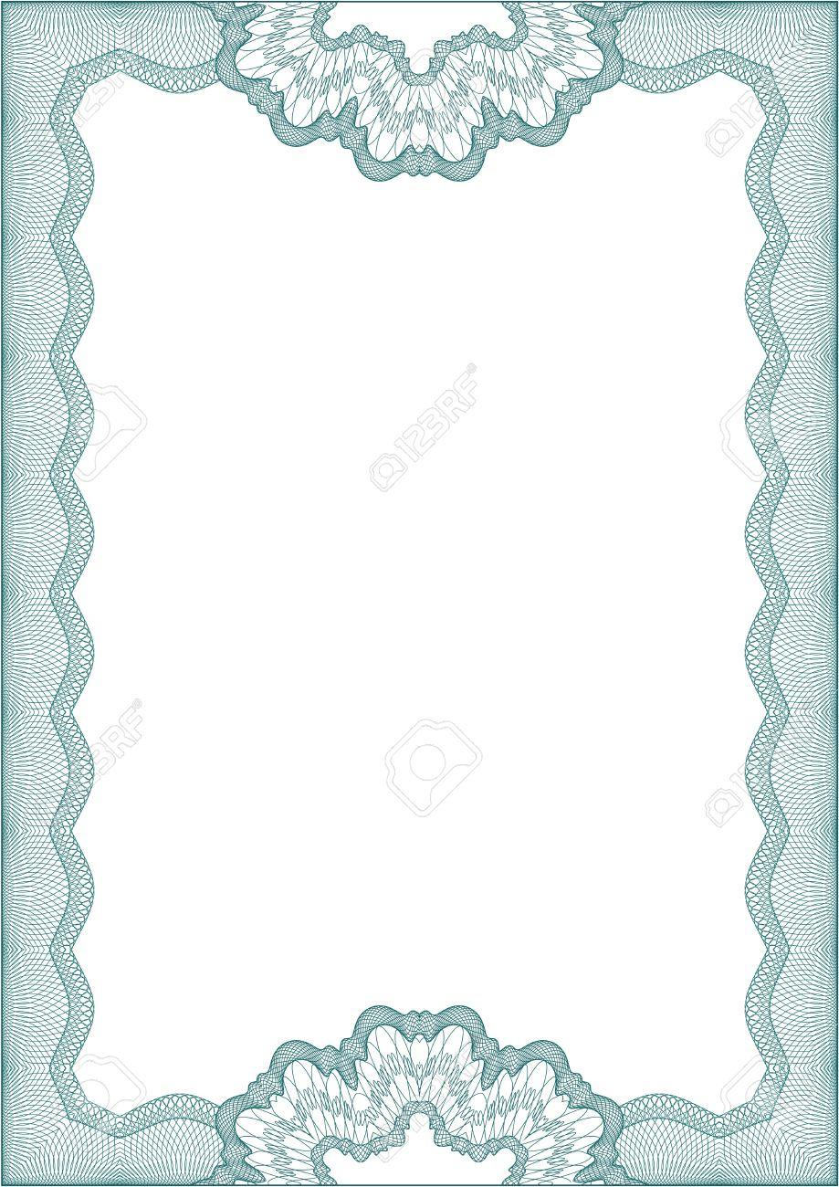 Гильоширование зеленая рамка для диплома или сертификата Клипарты  Гильоширование зеленая рамка для диплома или сертификата Фото со стока 13867140