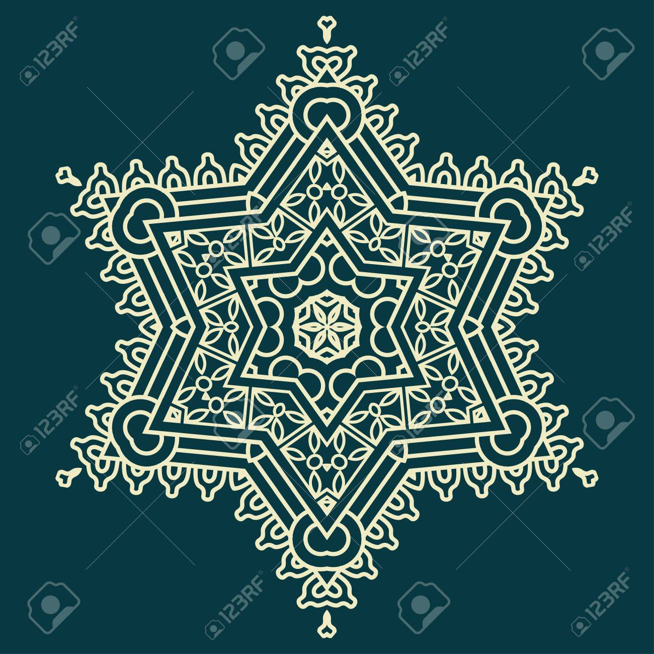 Snowflake on a blue background, element for design Stock Vector - 15031212