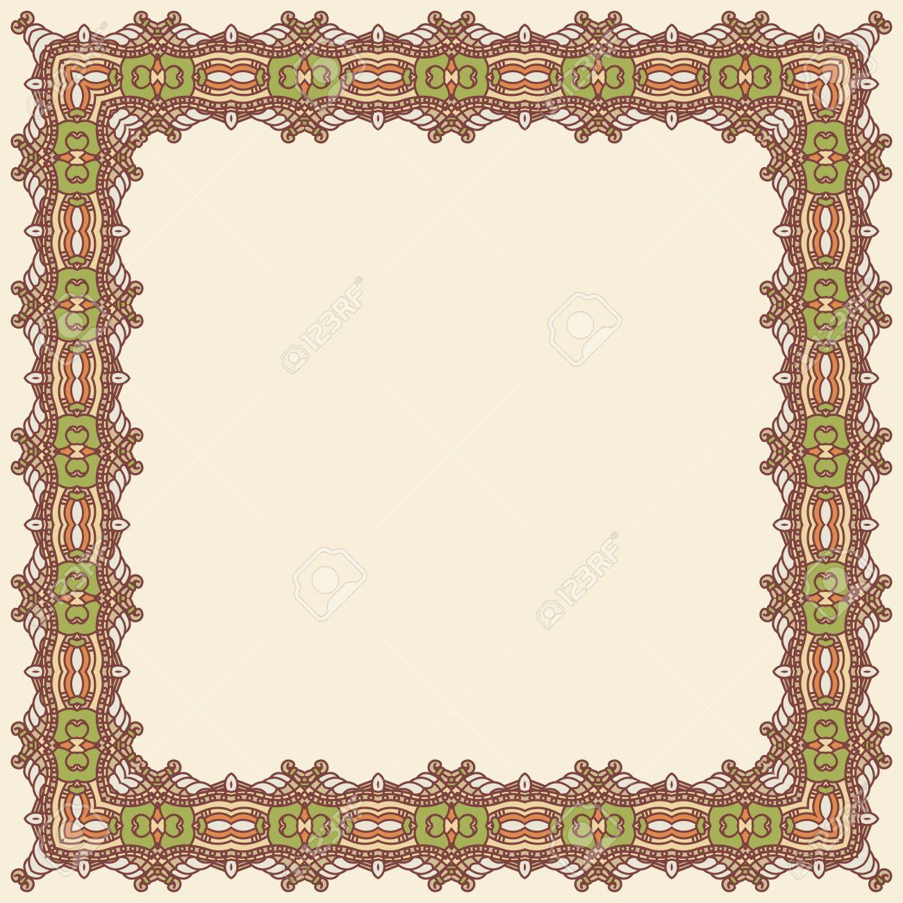 Abstract ornamental frame, elegant vintage label Stock Vector - 15736269