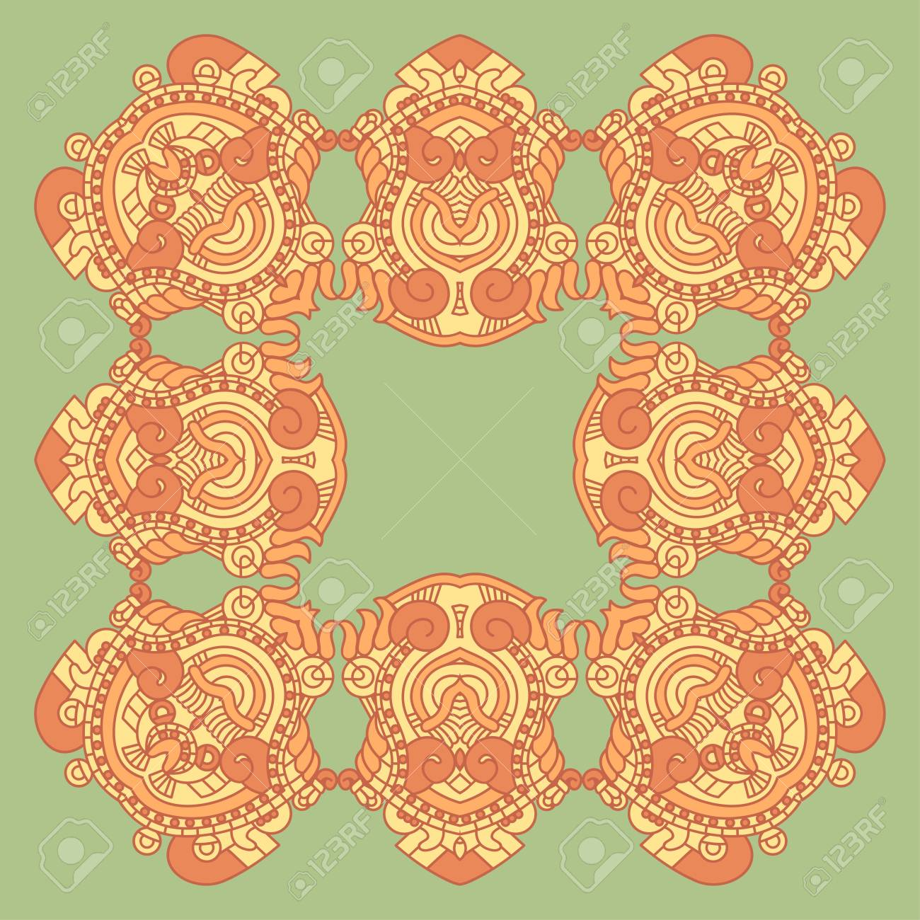 Vector square decorative design element Stock Vector - 17229279